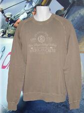 NEU Henri Lloyd BMW American Aurora Crew Vintage Pullover Salz gewaschen khaki L