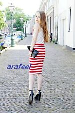 Stripe marine look navy white BLACK TUBE TOP dress LONG SKIRT sexy vacation hot