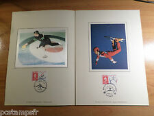 FRANCE 1992, DOCUMENT CERES FDC, SPORT CURLING, SKI, JEUX OLYMPIQUES ALBERTVILLE