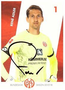 FSV Mainz 05 Rene Adler 2017/18 Autogrammkarte