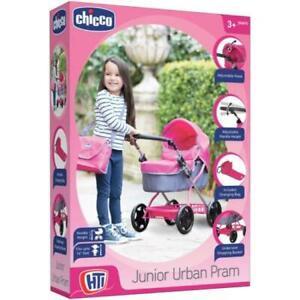 NEW Chicco Junior Urban Dolls Pram - Doll Stroller & Nappy Bag