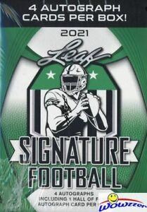 2021 Leaf SIGNATURE Football EXCLUSIVE Factory Sealed Box-(4) AUTOGRAPHS w/ HOF