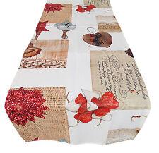 RUNNER striscia 140 x 45 tappeto per tavolo cotone natale shabby