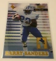 1999 Collector's Edge Barry Sanders Supreme Markers Insert S# /5000 LIONS HOF