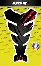 Protection réservoir griffe moto noir rouge sticker gel bike gas tank monster