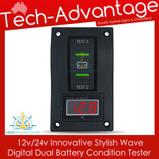 12V BOAT/CARAVAN/CAR/4X4 DUAL BATTERY DIGITAL VOLTAGE VOLTMETER CONDITION TESTER