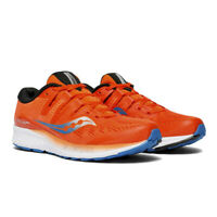 Saucony Mens Ride ISO Running Shoes Trainers Sneakers Orange Sports Breathable