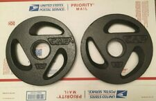 """Cap Barbell Olympic 2"""" Grip Weight Plate 10 Lb Pound Pair"""