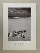 JEANLOUP SIEFF,SEXY LADY LYING AT THE BEACH,RARE AUTHENTIC 1980's ART PRINT