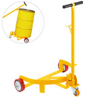 55 Gallon Drum Dolly Low Profile Drum Truck 1,200LBS, Steel Barrel Dolly, Yellow