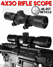 4x30 Ultra Compact Tactical Rifle Scope, P4 Sniper Reticle, Rifle Upgrades Parts