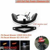 For Ducati Monster 696 1200S LED Scooter Short Tail Tidy Fender Eliminator Kit