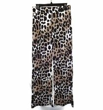 JUSTICE Size 18 Pants Black Brown Leopard Animal Print
