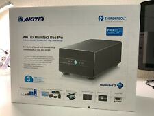 AKiTiO Thunder2 Duo Pro RAID Thunderbolt 2 + 2xSamsung 256gb SSD Mint condition!