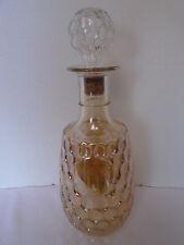 Vintage Amber Luster-Ware Iridescent Carnival Glass Decanter Bottle