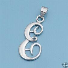 Alphabet Letter Pendants Sterling Silver 925 Best Price Jewelry Gift Initial E