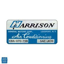 1975 Chevrolet Harrison Air Conditioner Evap Box Decal EBA-070-75B DC0556