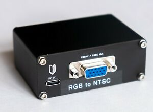 RGB VGA to NTSC S-video and composite transcoder/encoder