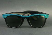 Vintage 50's B & L Ray Ban Wayfarer Electric Teal Sunglasses