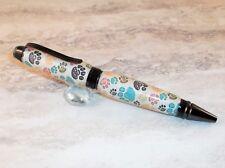 Handmade Cigar pen in Puppy Paws Acrylic, Gun Metal Finish