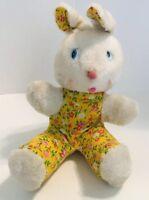 Vintage Knickerbocker Yellow Floral Bunny Rabbit Animals of Distinction