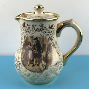 Vintage Sudlow's small lidded hot water / coffee pot  'Cries of London' H 16cm
