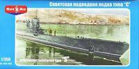 Mikro Mir 350-002 - 1/350 Soviet Submarine Type 'S', WWII 222 mm scale model kit