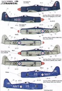 X72074 - NEW 1:72 Xtradecal 1:72 Hawker Sea Fury FB.11 Collection - 8 Options