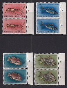 Indonesia Mint Stamps in Pairs Sc#589-592 MNH