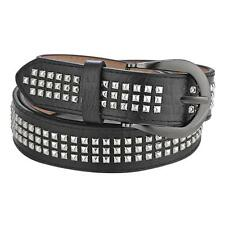 Fashion Pin Buckle Pyramid Studded PU Leather Belt Waistband For Mens Womens