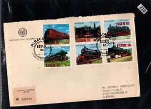 # PARAGUAY 1986 - R-FDC - LOCOMOTIVES - GERMANY