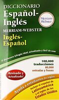 Diccionario Espanol-Ingles Merriam-Webster, New Edition, 2016 copyright (Span…