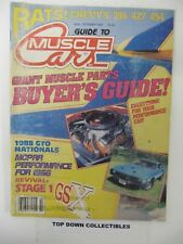 Guide To Muscle Cars Magazine  Oct. 1988    GTO Nationals