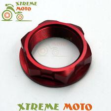 CNC Red Steering Stem Nut Bolt For CR125R 250R 01-07 CRF250R 250X 04-16 CRF450RX