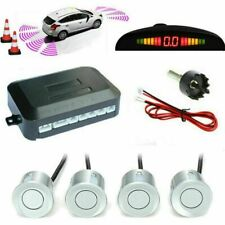 Wired Car Parking Rear Reverse 4 Sensors Kit Buzzer Radar Display Audio Alarm
