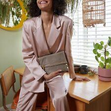 Hammitt Vip Medium Pewter Strap Leather Bag Purse Metallic GOLD Handbag NEW