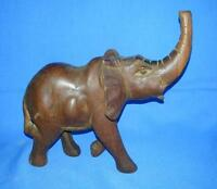 Vintage Old Collectible Rose Wood Hand Carved Decorative Elephant figure Statue