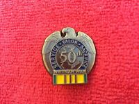 50TH ANNIVERSARY VIETNAM SERVICE RIBBON HAT/LAP PIN
