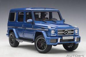 1:18 Scale AutoArt Mercedes Benz G63 AMG blue  Model Car 76324, New