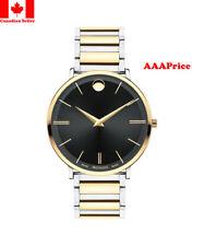 Movado 0607169 Ultra Slim Black Dial Two Tone Men's Watch
