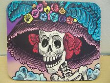 Day of the Dead Posada La Catrina Fancy Skeleton Lady Mousepad