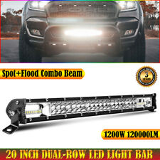 "20"" LED Light Bar Spot Flood Combo fit Chevrolet Ford Pickup Polaris Offroad UTV"