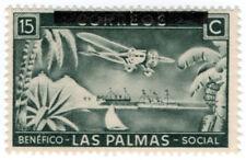 (i. b) Spain Civil War Cenicienta: las Palmas sobreimpresión 15c
