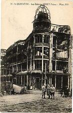 CPA  St - Quentin  - Les Galeries Seret Fréres - Mars 1919    (202333)