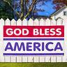 Vinyl Banner Sign God Bless America God Bless Marketing Advertising White