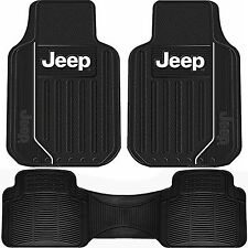 Jeep Front & Rear Universal Floor Mats All Weather Black Rubber New Free Ship