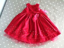 BABY GIRLS AGE 6-12 MONTHS RED DRESS PARTY SLEEVELESS Winter Smart