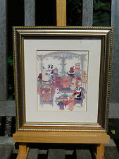 "Teddy bear print framed by Diane Elson - ""The Verandah"""