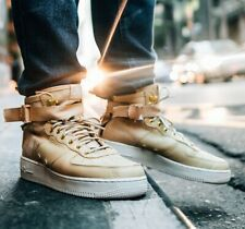 best sneakers dad7a 48238 Nike SF AF1 Air 1 FUNGO OSSO Force bianco in pelle Boot Scarpe da ginnastica  uomo donna UK 6