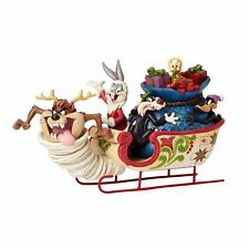 Enesco H7 Looney Tunes Jim Shore Weihnachten 5.7in Schlittenfahrt Figur 4052811